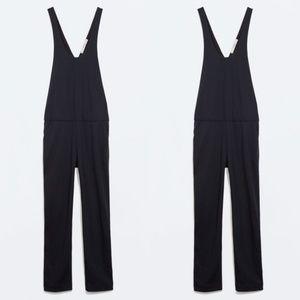 Zara Low Arm Hole Tuxedo Stripe Jumper Pants